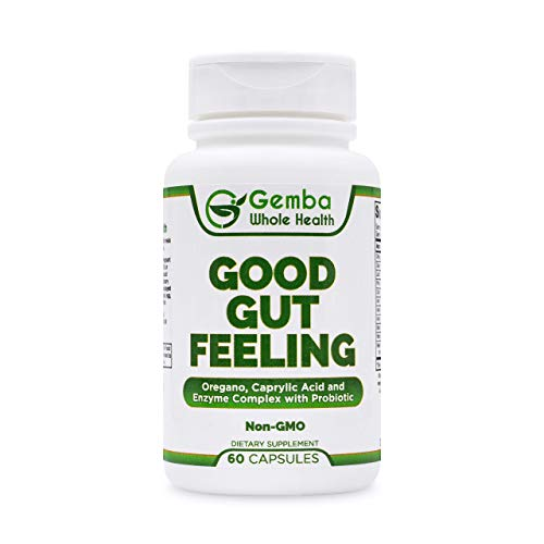 Good Gut Feeling - Oregano, Caprylic Acid and Digestive Enzymes - Candida Cleanse - Candida Complex with Probiotic - Supports Gut Health, Digestion and Intestinal Flora - Non-GMO - 30 Day Supply