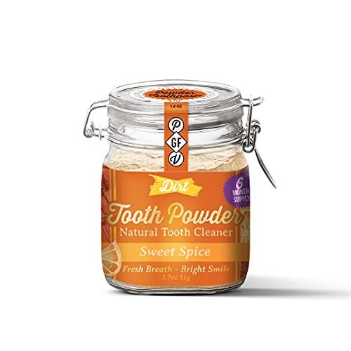 The Dirt Tooth Powder - Gluten & Fluoride Free Organic Teeth Whitening Powder with Essential Oils |...
