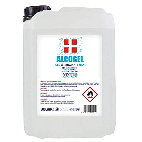 Sydex CBR20/3040059 Gel Alcogel Tanica da 5 Litri Igienizzante per Mani con Antibatterico Maxi Formato