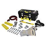Superwinch 1140222 Winch 2 Go 12V 4000 Portable Winch System (4000lb with Wire Rope, Pulley Block, Gloves, Straps and D-Shackles)