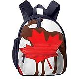 Mochilas Infantiles, Bolsa Mochila Niño Mochila Bebe Guarderia Mochila Escolar con Alces Bandera De Canadá para Niños De 3 A 6 Años De Edad