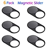Upgrade Magnetic Webcam Cover, [6-Pack] CloudValley 0.023 inch Metal Camera Cover Slide for Mac, iPad, MacBook Pro, MacBook Air, Laptops, PC/Computer, Tablets, Web Blocker Protect Your Privacy
