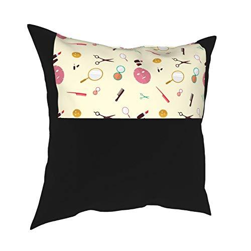 DearLord Fundas de cojín de diseño de clínica de belleza de doble cara cuadradas, fundas de almohada para sofá dormitorio con cremallera invisible de 45 x 45 cm