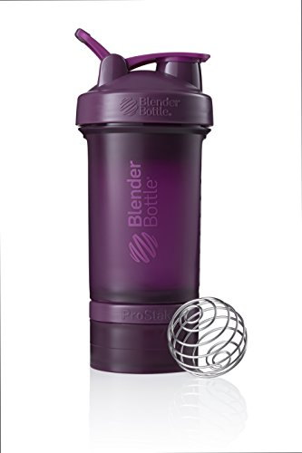 BlenderBottle ProStak Full Color Botella de Agua y Accesorios, Unisex Adulto, Ciruela, 650 ml