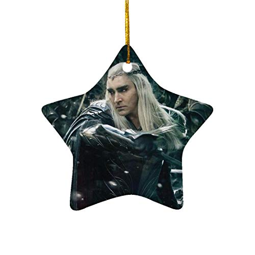 Tiyena Christmas Star Ornament The Hobbit Son of Oropher Thranduil Elven King Wizard Fantasy Adventure Film for Home Living Room Decoration Outdoor Desk Ceramic 3in (1/2/3) pcs/Pack