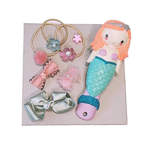 el Cuidado del Pelo del Peine de Dibujos Animados 1Pack niños Conjunto elástico Hairbands Linda Pernos de Pelo Princesa Sirena del Pelo Accesorios Set de Regalo para Las niñas de la Salud