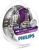 Philips 12342VPS2 VisionPlus - Bombillas H4 para...