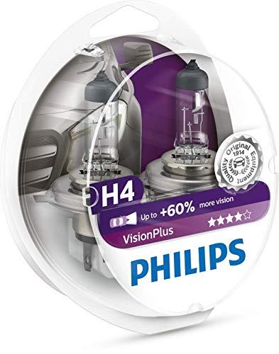 Philips 12342VPS2 VisionPlus - Bombillas H4 para faros delan