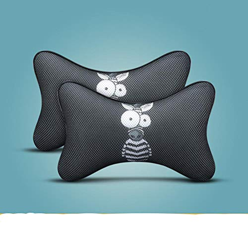 NUIOsdz 2 Stück Universal Car Neck Pillows Atmungsaktives Mesh Auto Car Neck Rest Kopfstützenkissen Kissen Car Interieur Zubehör