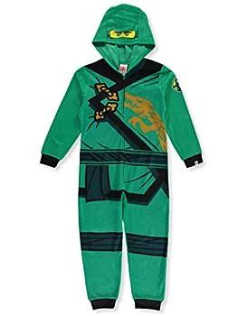Lego Ninjago Little Boys  Green Hooded One-Piece Pajamas 6-7