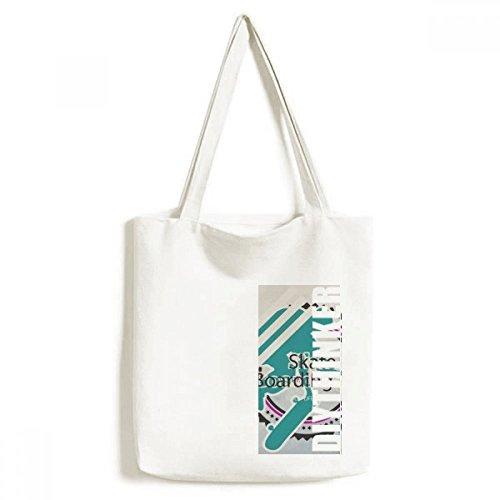 DIYthinker Mannen Sport Snowboarden Atleten Illustratie Tote Canvas Bag Winkelen Handtas Craft Wasbaar 33 cm x 40 cm (13 inch x 16 inch) Multi kleuren