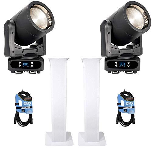 (2) American DJ Par Z Move RGBW – Moving Head LED Wash Light + (2) Rockville RTP32W Totem Moving Head Light Stands + Cables