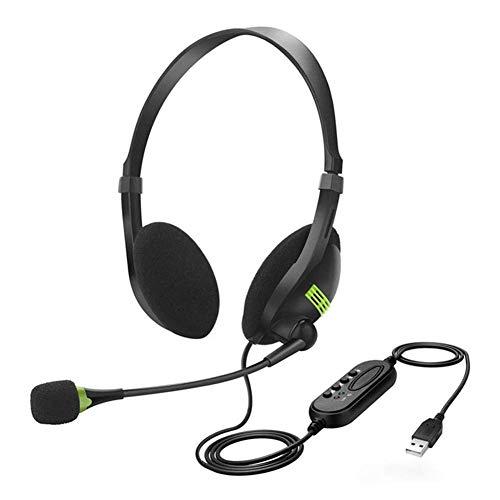 Auriculares inalámbricos de alta fidelidad, auriculares para PC, auriculares Bluetooth superpuestos para los oídos, auriculares USB, auriculares para PC, auriculares para juegos para la oficina en ca