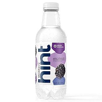 Hint Water Blackberry  Pack of 12  16 Ounce Bottles Pure Water Infused with Blackberry Zero Sugar Zero Calories Zero Sweeteners Zero Preservatives Zero Artificial Flavors