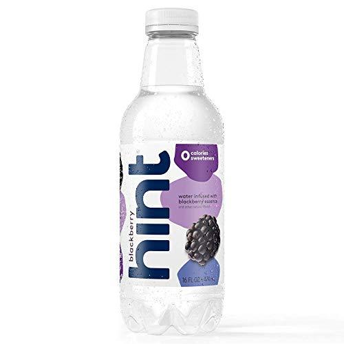 Hint Water Blackberry (Pack of 12), 16 Ounce Bottles, Pure Water Infused with Blackberry, Zero Sugar, Zero Calories, Zero Sweeteners, Zero Preservatives, Zero Artificial Flavors