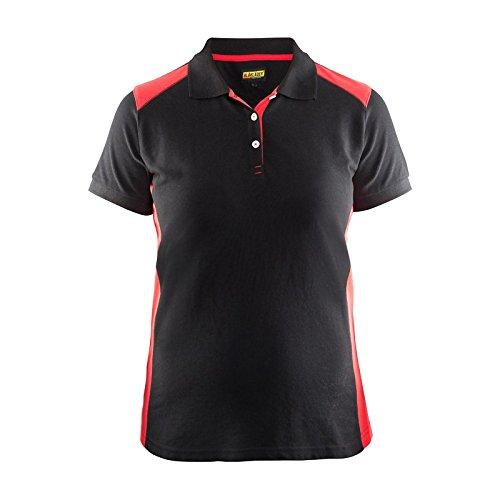 Blakläder Damen-Polo-Shirt, 1 Stück, S, schwarz / rot, 339010509956S