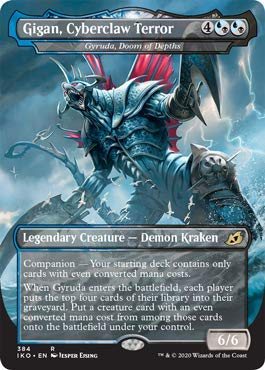 Magic: The Gathering - Gigan, Cyberclaw Terror - Gyruda, Doom of Depths - Foil - Ikoria: Lair of Behemoths