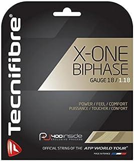 (Natural, 1.18mm) - Tecnifibre X-One Biphase 1.18 Tennis String Set