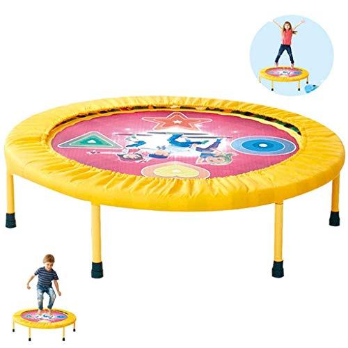 Trampolín de jardín Trampolín para niños Mini trampolín Plegable para niños Trampolín de Fitness para niños Jardín Interior Rebounder de Baile Interior Carga dinámica 100 kg (Color: Amarillo