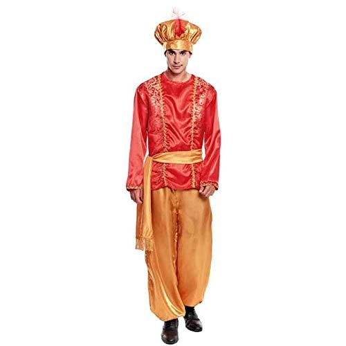 Partilandia Disfraz PAJE Rojo para Hombre Navidad (M)