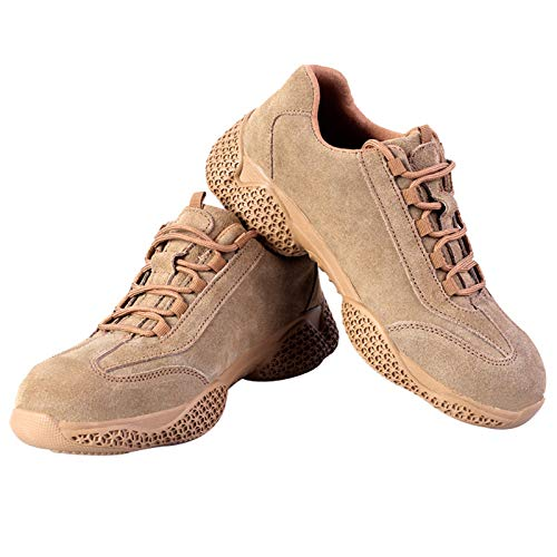 HOUJIA Zapatos de Trabajo,industriales Botas de Seguridad,Hombre Trabajo Cómodas,Zapatillas de Trabajo con Punta de Acero Ultraligero Transpirables,Zapatos de Seguridad