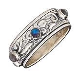 Energy Stone Diosa Moonstone Meditación Spinner Ring (SKU UK50)