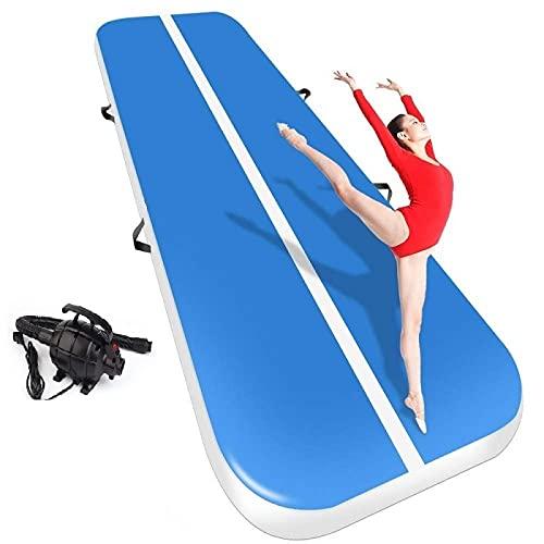 Four Fahrenheit Colchoneta hinchable de 3 4 5 6 7 8 m de altura para yoga, deportes, taekwondo, danza, gimnasia, incluye bolsa de transporte y bomba de aire eléctrica.