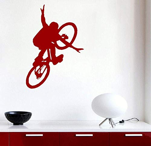 Muursticker grote fiets kinderen kunst slaapkamer muur grote muursticker 68 * 47Cm