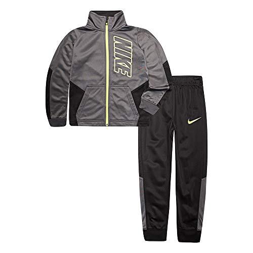 Nike Little Baby Jungen Trikot Trainingsanzug 2-teiliges Outfit Set Game Royal, Jungen, Schwarz (86e201-023)/Volt, 4