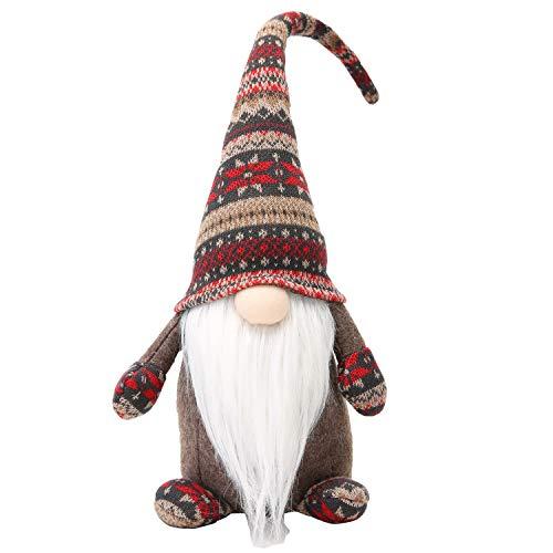 19 Inches Handmade Christmas Gnome Decoration Swedish Figurines (Brown)