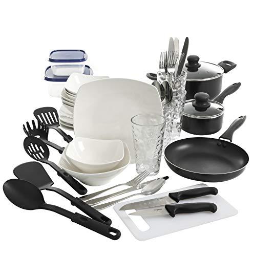 Gibson Home Zen Buffet All U Need Dinnerware Combo Set, 45-Piece, White