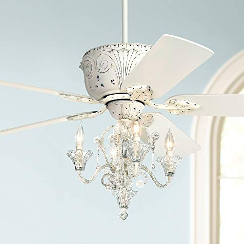 52' Casa Deville Vintage Chic Ceiling Fan with Light LED...
