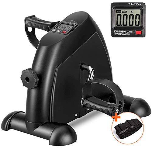 DECELI Under Desk Bike Pedal Exerciser - Portable Mini Exercise Bike for Arm/Leg Exercise, Mini Exercise Peddler with LCD Display(Black) thumbnail image