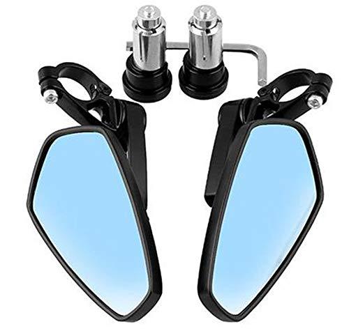 Goldoars Universele achteruitkijkspiegels voor motorfietsen, 7/8 inch stuur, CNC-aluminium, 360 graden draaibaar en hoek verstelbare buitenspiegel voor standaard sturen zwart