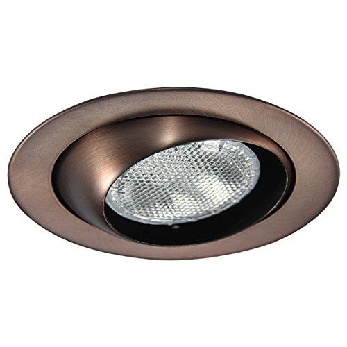 Eco Lighting NY HV6004AB 6-Inch Line Voltage Trim Recessed Light fit Halo/Juno, Adjustable Eyeball Trim, All Antique Bronze