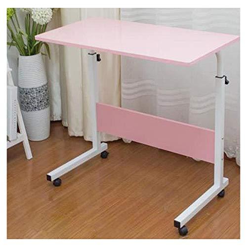 WERTYG Mesa sobrecama Mesa de ordenador portátil móvil Mesa de escritorio de oficina ajustable altura para cuaderno de oficina de estudio de niños Mesa plegable (color: rosa)