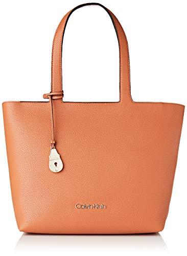 Calvin Klein Neat Shopper Md - Borse a spalla Donna, Marrone (Cuoio),...