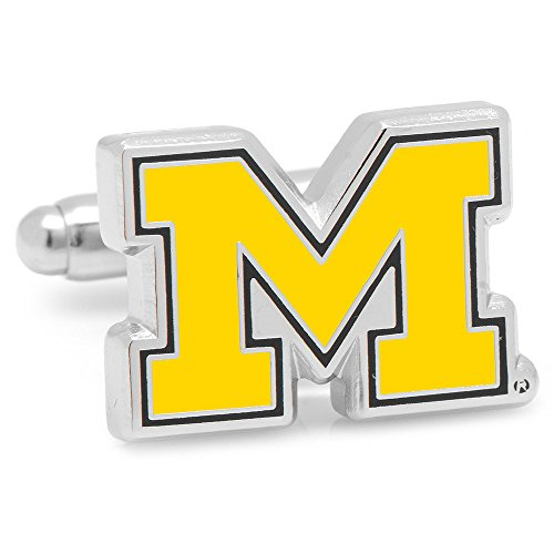 Michigan Wolverines NCAA Logo'd Executive Cufflinks w/ Jewelry Box