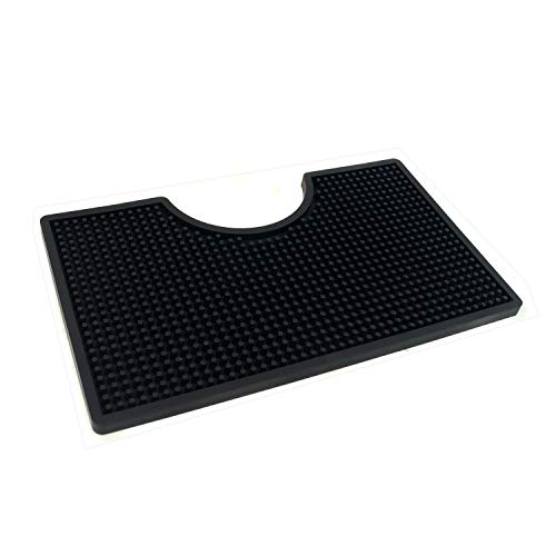 12×7 inches PVC Drip Tray for Home Brewing, Kegerator (Black)