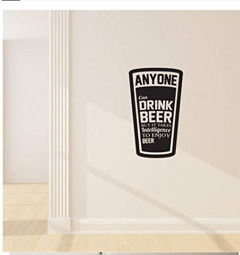 JHLP Muursticker Vinyl Sticker Alcohol Informatie Beker Bier Wanddecoratie Woonkamer Art Design Slaapkamer Decoratie DIY 57X34CM