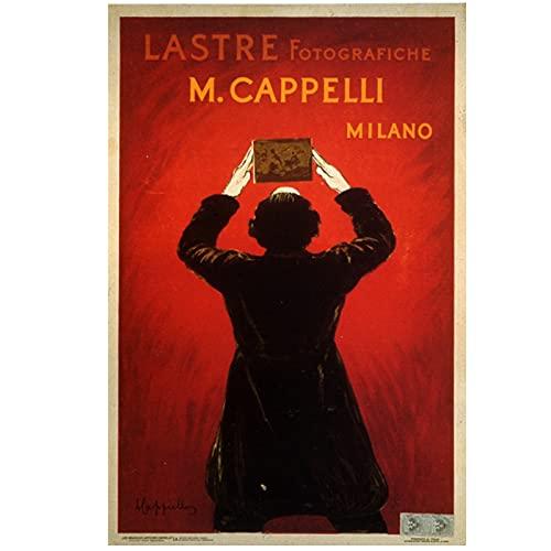 Cartel publicitario vintage Lastre Cappelli pinturas clásicas en lienzo carteles de pared decoración del hogar 50x70 cm x1 sin marco