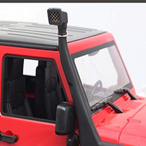 WEIZEU Kits de goma de vadeo para coche 1:10 RC Crawler TRX4 Snorkel de goma Safari para Jeep (negro, 1:10)