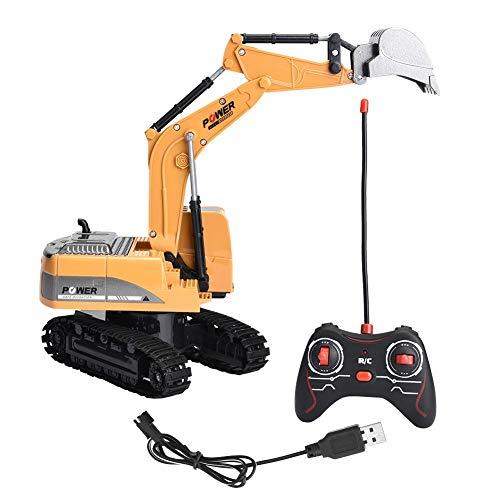 VGEBY Excavadora RC 258-1 6 Canales Excavadora de Control Remoto Funcional Completa...