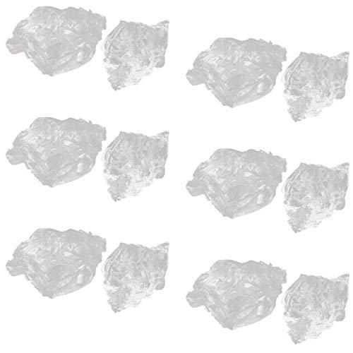 Baoblaze Cera De Gel De Parafina Transparente 1200 G para La Fabricación De Velas Sin Humo, Altamente Transparente, Gelatina De Cristal, No