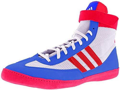 adidas Wrestling Kampfgeschwindigkeit 4 Wrestling-Schuh, Luft WeiÃ? / lebendige Rot/blau Schnh