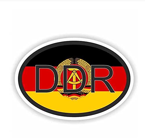 MDGCYDR Pegatinas Coche 9,8 Cm * 6,5 Cm Pegatinas DDR Código De País Divertido Coche Motocicleta Calcomanía PVC