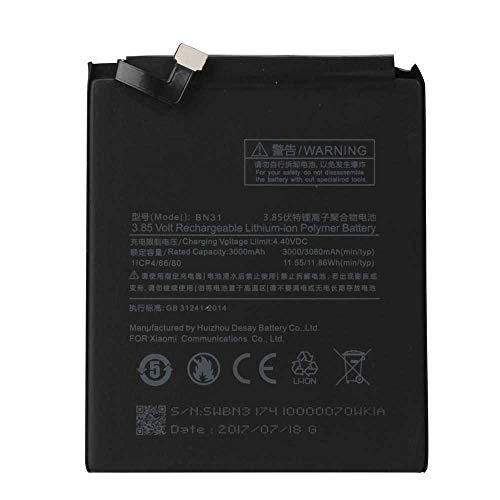 Todobarato24h Bateria Compatible con Xiaomi BN 31 Mi A1 H5X, Mi 5X, Mi 5X Dual SIM, Mi 5X Dual SIM TD-LTE 3000 Mah