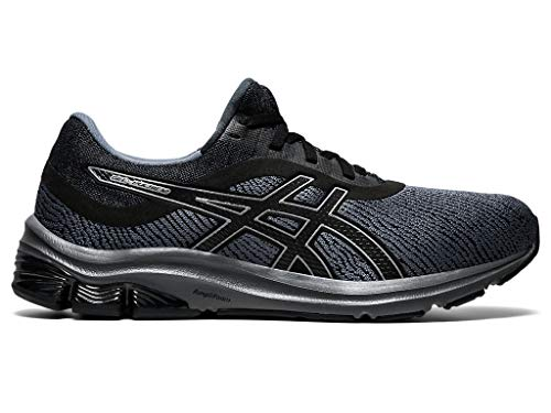 ASICS Men's Gel-Pulse 12 Monosock Running Shoes, 9.5M, Black/Black
