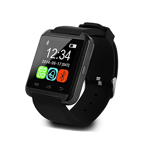 U8 Smart Watch Uwatch Wristwatch Phone Mate for Smartphones (Black)