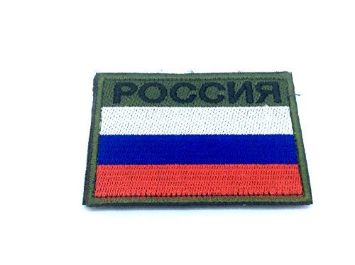 Russland Russisch Россия Flagge Bestickt Airsoft Paintball Patch